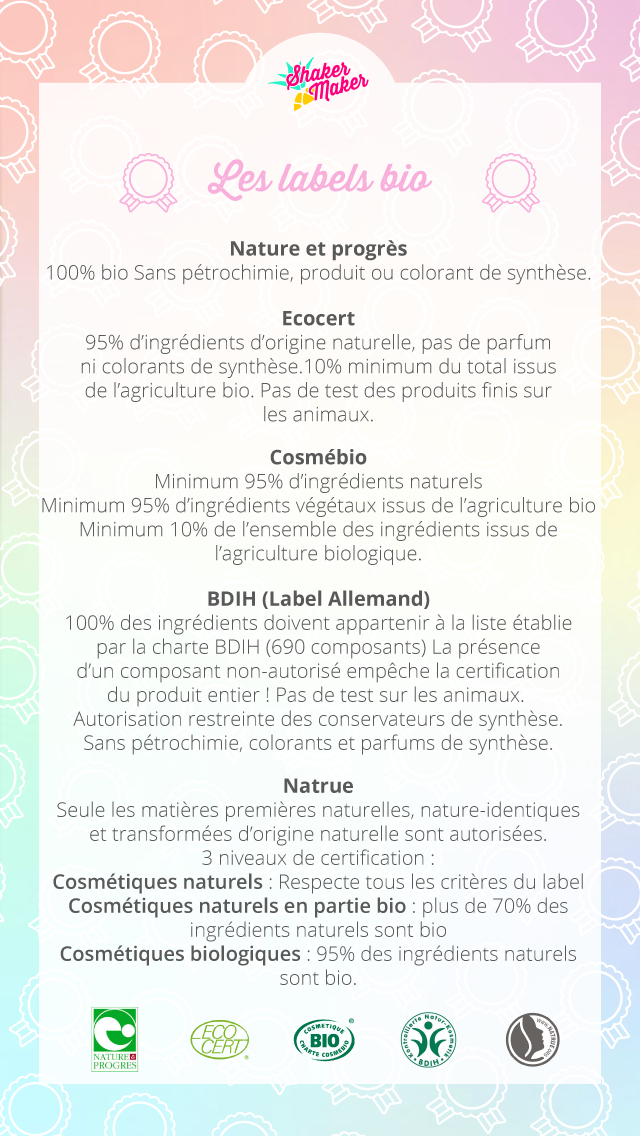 recapitulatif label bio