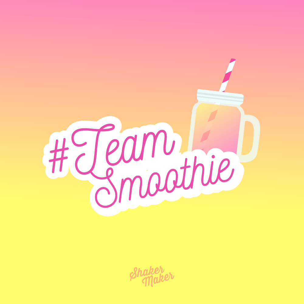 team smoothie shakermaker