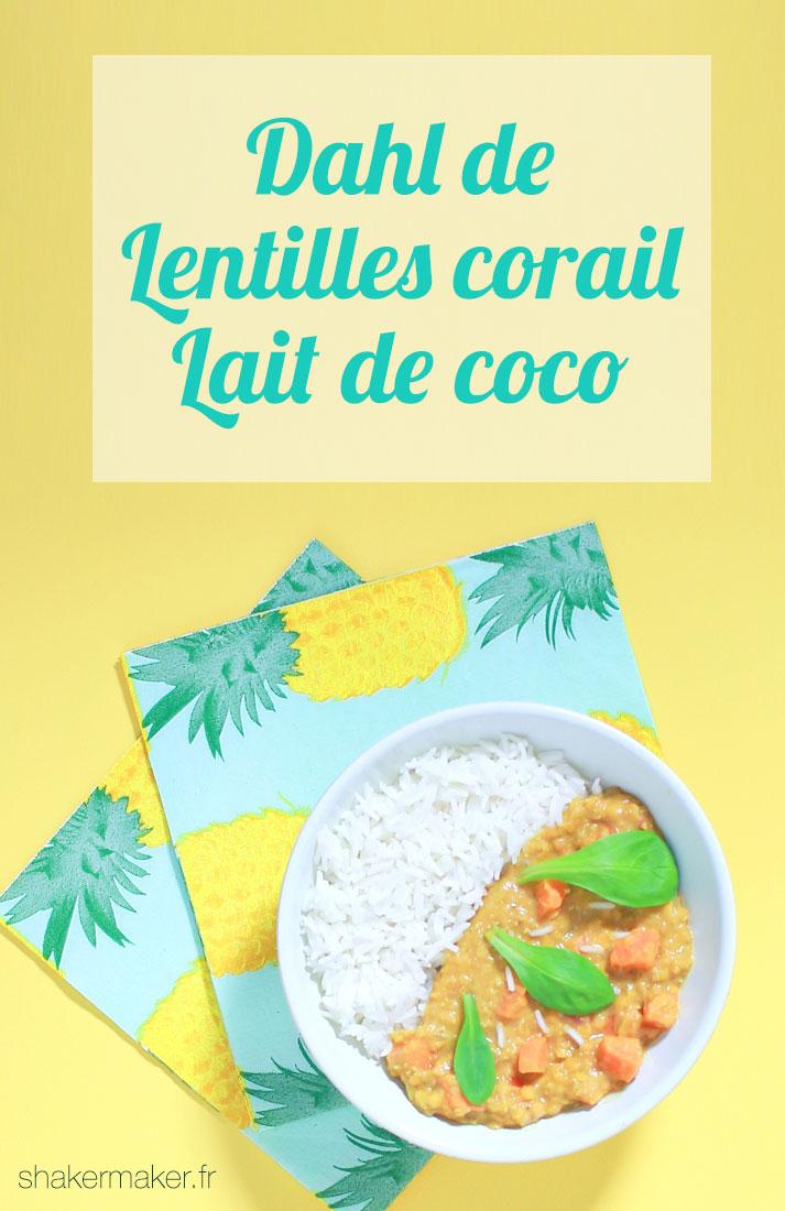 dahl lentille corail lait coco