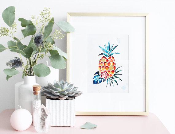 Ananas Encrerie Marine Etsy