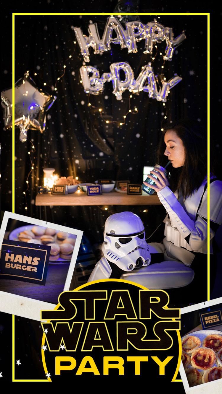 anniversaire, deco, diy, theme, star wars, stormtrooper, fete, pimp my birthday