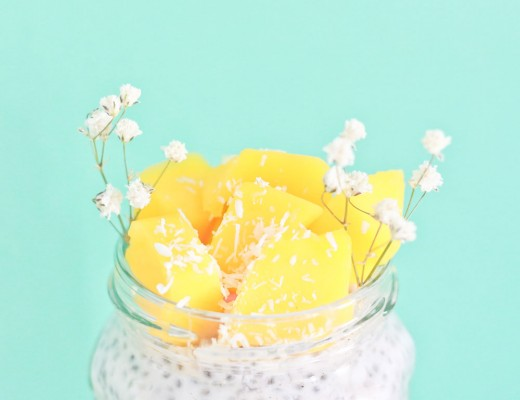 pudding chia mangue coco